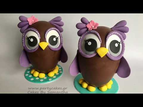 How to make an Owl Chocolate Easter Egg
