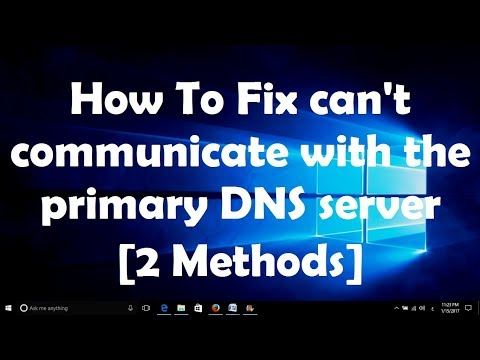 How To Fix can't communicate with the primary DNS server [2 Methods]