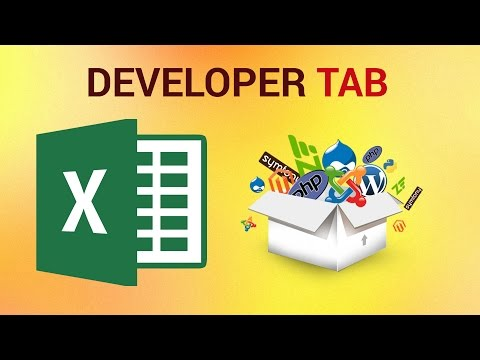 How to Turn on the Developer Tab in Excel 2016