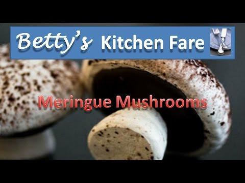 How to make meringue mushroom cookies