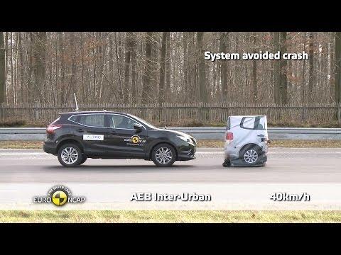 2014 Nissan Qashqai ► Autonomous Emergency Braking Test
