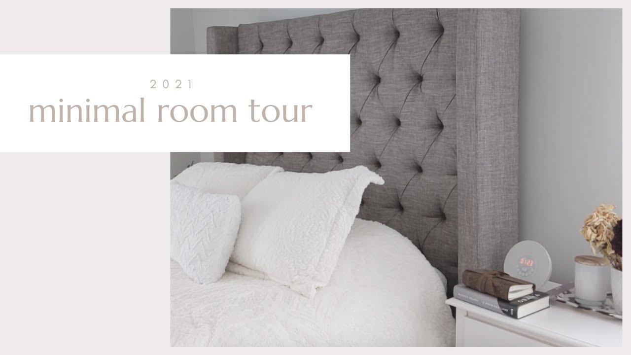 MINIMAL BEDROOM TOUR 2021 | Simple Living Inspiration