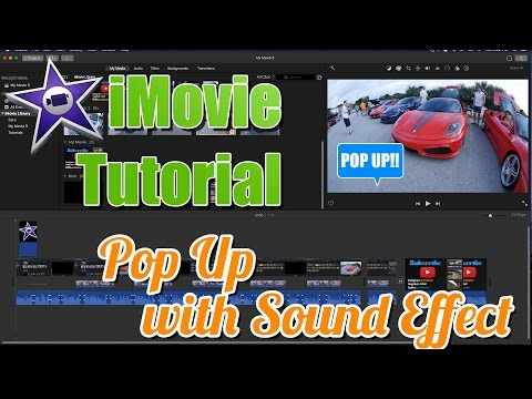iMovie Pop Up With Sound Effects Tutorial