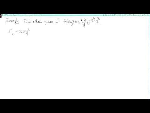 Multivariable calculus 2.5.3: Examples of critical points