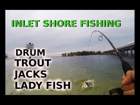 Inlet Surf Fishing Catching Trout Jacks Drum Lady Fish South Florida