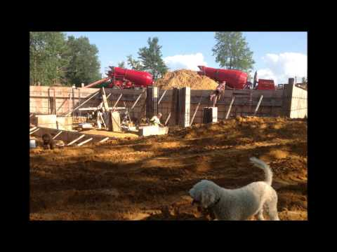 Building a log home Part 3 -  Footing and foundation