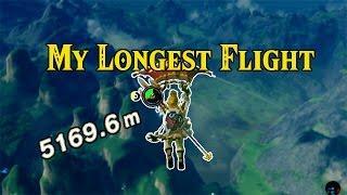[zelda Breath Of The Wild] My Longest Flight | 5000m  Gliding Distance!
