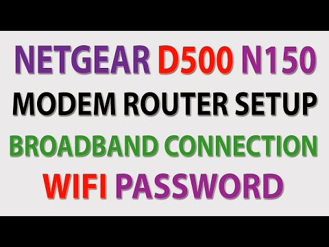 Netgear D500 N150 Modem Router Setup Broadband Connection Wifi Password