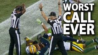 Nfl Replacement Referees Make The Worst Call Ever