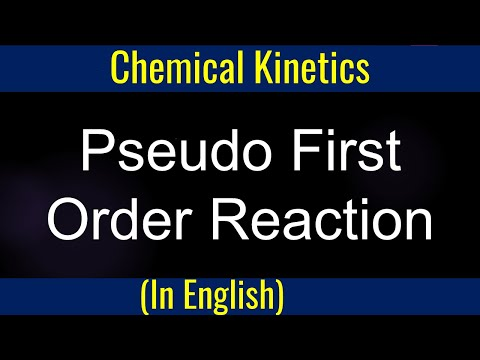 How to :  Pseudo First Order Reaction GPC 8-7