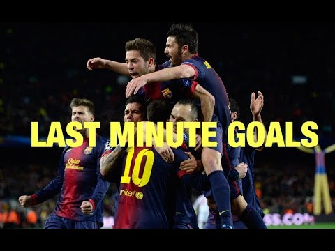 Top 10 LAST MINUTE EPIC GOALS