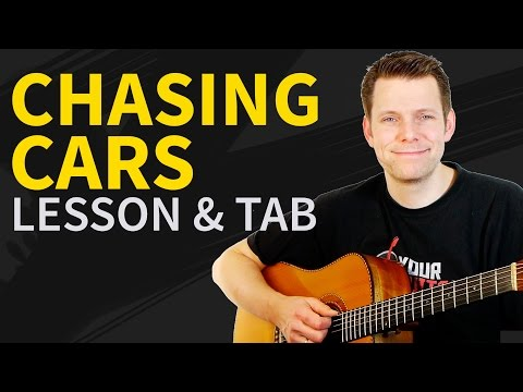 How To Play Chasing Cars Guitar Lesson & TAB - Snow Patrol - Easy Beginner Guitar Songs