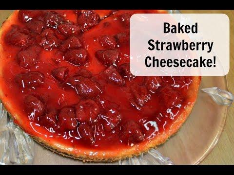 Baked Strawberry Cheesecake | Naf's Kitchen
