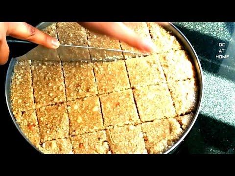Til Mungfali Nariyal Barfi Recipe(Hindi)-Sesame Seeds Peanuts burfi recipe-Do At Home