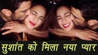 Sushant Singh Rajput kisses Kiara Advani at Salman Khan