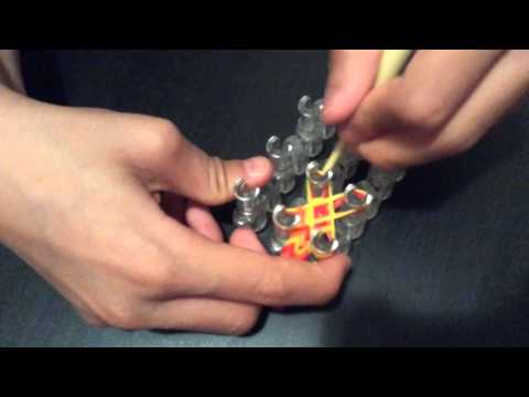 Rubber band bracelet double fishtail