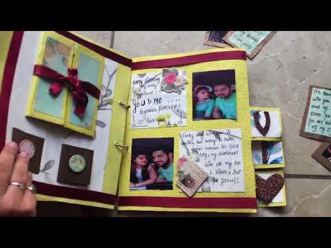 DIY- Handmade gift for male best friend (Name album)