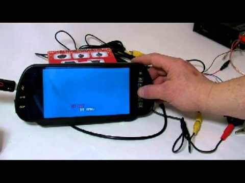 7'' TFT LCD MP5 MP3 Bluetooth Car Rear View Mirror Monitor SD USB FM Transmitter