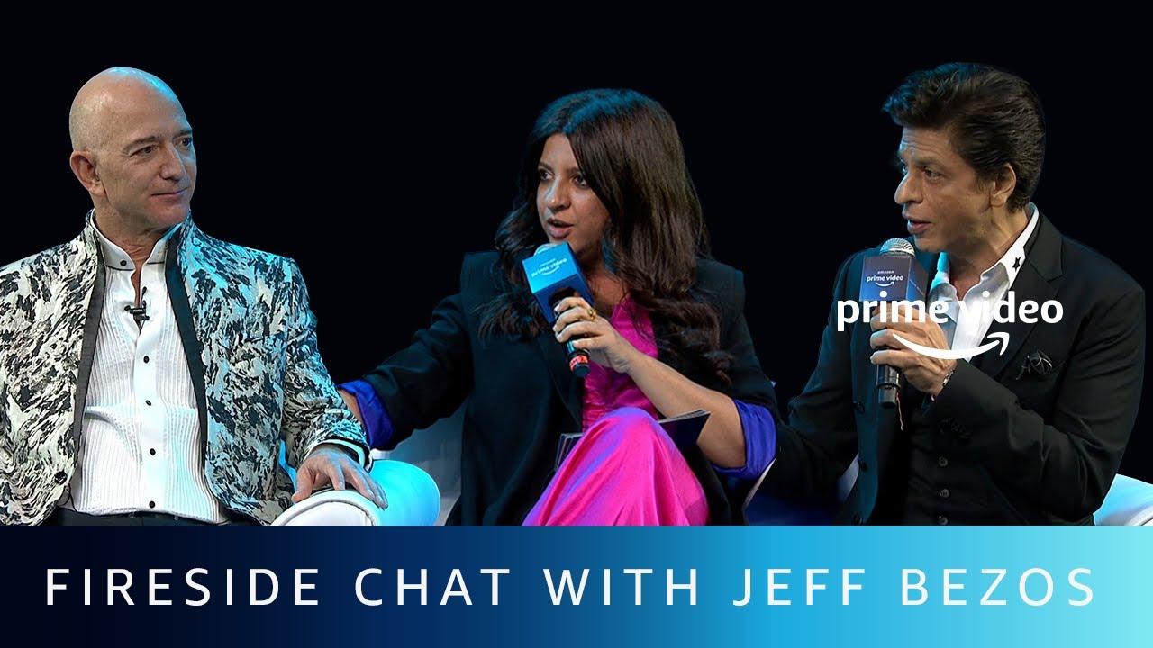 Fireside Chat with Jeff Bezos | Shah Rukh Khan, Zoya Akhtar | Amazon Prime Video
