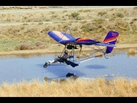 Flying an 1983 Quicksilver MX Ultralight with live instrument data Roy Dawson video