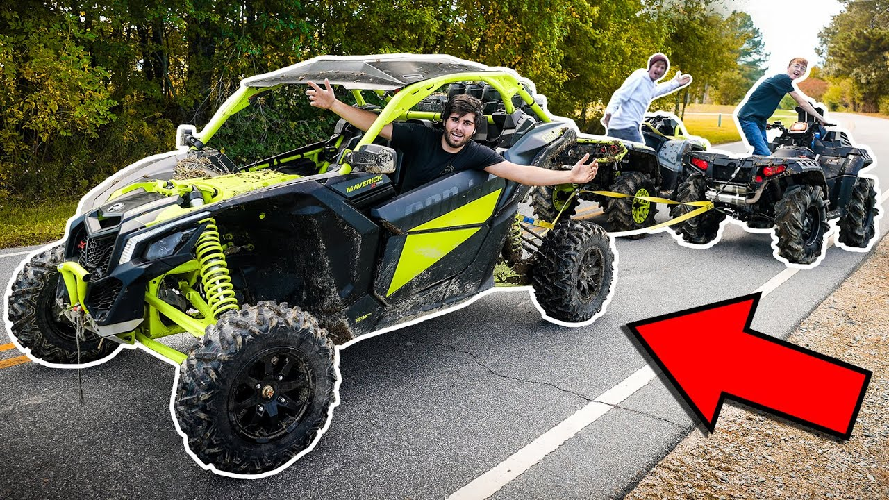 Can-am X3 TUG OF WAR! INSANE 4x4 BURN OUTS!