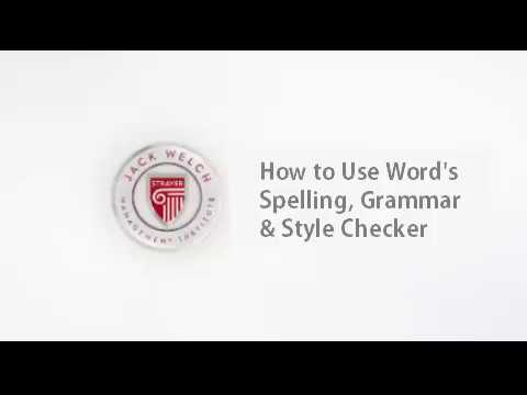 JWMI: How to Use Microsoft Word's Spelling, Grammar, and Style Checker
