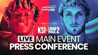 KSI vs. Logan Paul 2 FINAL PRESS CONFERENCE (Official Live Stream)