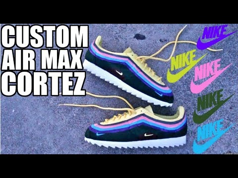 CUSTOM SEAN WOTHERSPOON AIR MAX CORTEZ !!