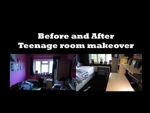 Teenage room makeover before and after