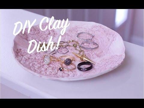 How To DIY Air Dry Clay Dish Bowl