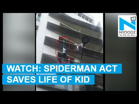 Real life spiderman saves life of toddler in France
