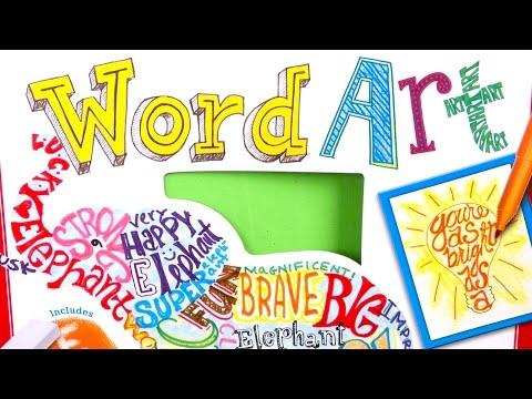 Do Art: Word Art from Faber-Castell