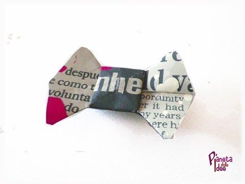 D.I.Y. Come fare un Papillon di Carta Origami - How make a origami  Bow Tie!