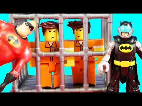 Roblox Inmate Twins Get Out Of Jail Can Imaginext Batman And Incredibles 2 Team Save The Day