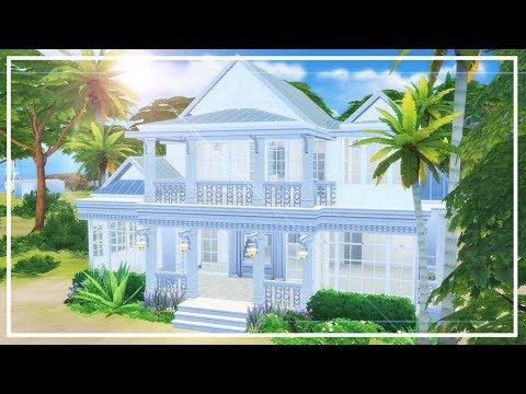 SIMS 4 COASTAL BEACH HOUSE 🌞 Speed Build + CC List