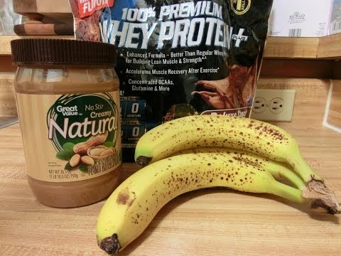 Powerful Peanut Butter Banana Chocolate Protein Shake