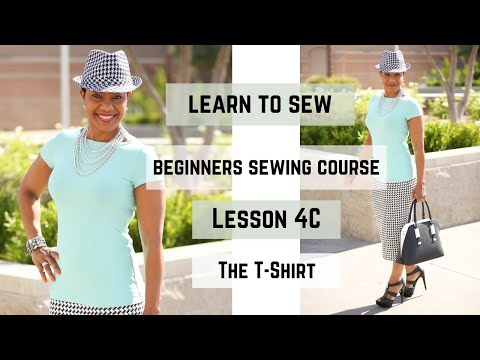 Beginner's Sewing Course - Project #4 - T-shirt (Part 3)