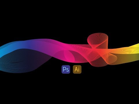 How to make rainbow ribbon effect in photoshop and illustrator