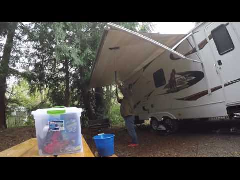 RV Awning cleaning