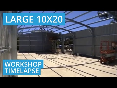 10m x 20m x 4m Shed Construction Timelapse in Banjup/Treeby WA 6164