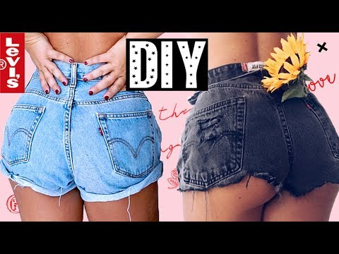 DIY - How to get perfect Vintage Levi cut offs / shorts