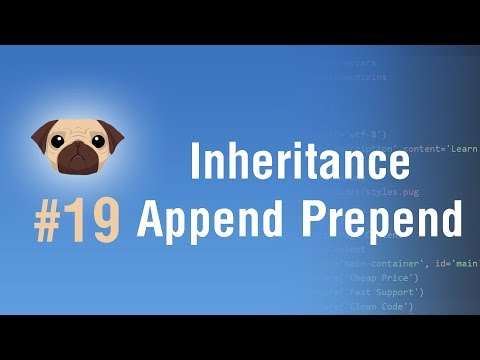 Learn Pugjs in Arabic #19 - Inheritance And How To Use Append And Prepend