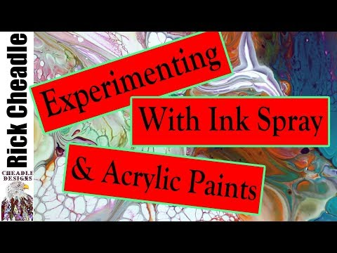 388. Painting Pouring with Acrylics and Alcohol Inks -abstract painting . how to make cells