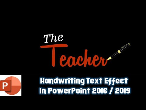 Handwriting Text Animation Effect | Motion Graphics Tutorial in PowerPoint 2016 | The Teacher