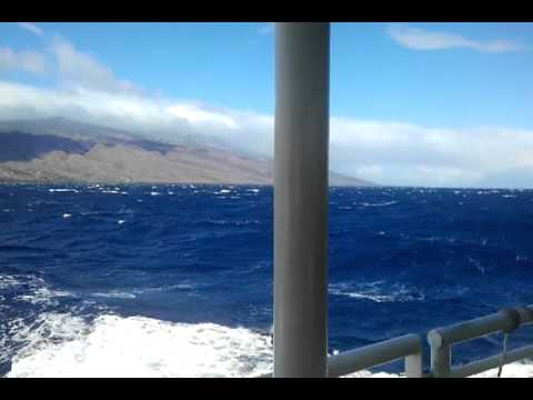 Beautiful ferry ride, Molokai to Maui