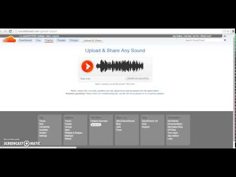 How to Create an Account and Use Soundcloud