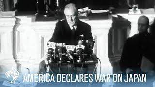 President Franklin D. Roosevelt Declares War on Japan (Full Speech) | War Archives
