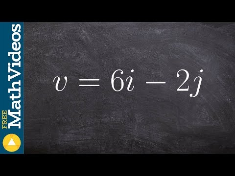 Pre-Calculus - How to find the magnitude and unit vector from a given vector, v = 6i - 2j