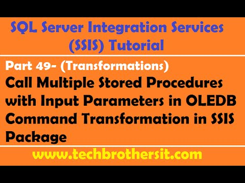 SSIS Tutorial Part 49-Multiple Stored Procedures w/ Input Parameters in OLEDB Command Transformation