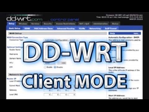 DD-WRT Client Mode Setup
